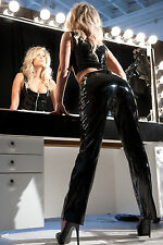 Glamour Clothing from Allure Seductive Low Rise Vinyl Pants Black Size:X-Large