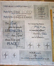 Inspired Journey Wing & A Prayer Psalm God Religious Fabric Panel 1 Yard C5245