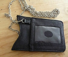 BLACK SMART PHONE /  IPHONE POUCH CASE REMOVABLE SHOULDER CHAIN ID & CARD SLOTS