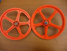 "Skyway Tuff II 20"" Wheelset - Orange BMX bike wheels NEW Retro Mag"