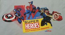 Medium Marvel Comics Super Heroes Half Marathon Weekend 2016 T-shirt Run Disney