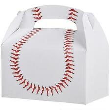 12 BASEBALL TREAT BOXES Birthday Loot Goody Prize Gift Bag #ST31 FREE SHIPPING