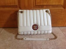 Kate Spade Gold Coast Evangeline Purse Cream Ivory Quilted Leather