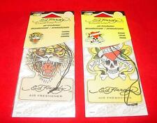 NEW Lot of 12! Ed Hardy Air Freshener Car Home 6 Vanilla - 6 Lemon Last Ones!