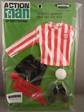 ACTION MAN  40th - RED & WHITE STRIPE JERSEY FOOTBALLER CARD SPORTSMAN - Carded
