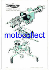 TRIUMPH 4 Speed Gearbox - Exploded View Drawing..A3 size..Free Postage Worldwide