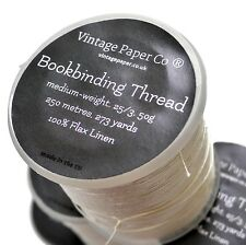 Bookbinding Thread, pure flax linen, 250 metres 270 yards