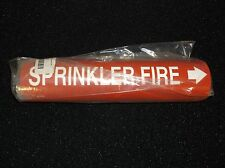 New BRADY 4127-D Pipe Marker, Sprinkler Fire, Red, 4 to 6 In (F42F)
