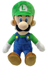 "NEW Luigi Large 16"" Plush Stuffed Doll (1256) Little Buddy Super Mario Bros USA"