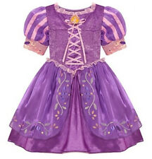 NEW Disney Parks Authentic Tangled Rapunzel Girls Dress Up Costume Sz XS 4/5