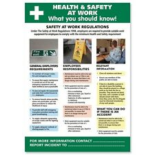 Health and Safety At Work Poster W420 x H595mm (Ref HS106)