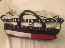 Tommy Hilfiger VTG 90s COLORBLOCK Large Duffle Luggage Bag Spell Out USA