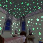100pcs 3d Colored Star Sticker Home Decor Glow In The Dark Wall Decal Room 3cm