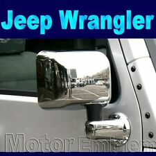 FULL SET Chrome Wing Door Mirror Covers Trims for JEEP Wrangler Unlimited 07-12