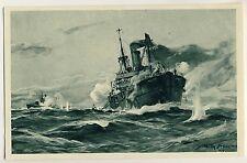 Sous-marin-jour sous-marin allemand au combat * stöwer artistes-AK 1917