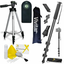 "Pro 72"" MONOPOD + 50"" VIVITAR TRIPOD + REMOTE CONTROL FOR ALL SONY ALPHA DSLR"