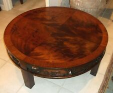 Henredon Heritage mamhogany Asian style round coffee table