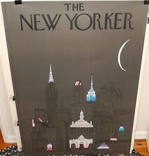 "R.O. BLECHMAN ""THE NEW YORKER"" HUGE 1979 GREY POSTER"