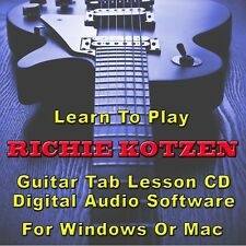 RICHIE KOTZEN Guitar Tab Lesson CD Software - 20 Songs