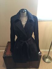 Stunning INC Black Trench Coat-Size Med Nwt Retail $180.00!!