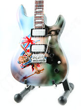 Miniature Guitar IRON MAIDEN with stand. TROOPER