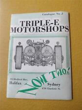 TRIPLE-E MOTORCHOPS CATALOG NO. 2 AUTO CAR PARTS DOMESTIC IMPORT VW VOLKSWAGEN