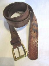 Vintage Levi's Leather Distressed Belt Mens or ladies SZ 42 Extra Large XL