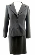 Danny & Nicole Women's Size 12 Skirt Suit Gray Fully Lined Washable Blazer EUC