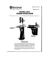 Delta Rockwell  Overarm Router/Shaper Instructions