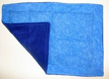 WEIGHTED LAP PAD Blue Cotton/Fleece AUTISM, Sensory OT WASHABLE SPD Mini Blanket