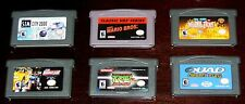 GAMEBOY ADVANCE LOT 6 Games GBA Super Mario Bros Ninja Turtles 2 Sim City 2000 +