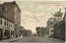 8th Avenue Looking West From 11th Street Altoona PA Postcard 1909