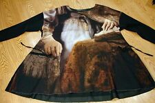"NWT RUNDHOLZ ""OLD MASTERS"" DRESS WITH HANDS PRINT LAST ONE - SOLD OUT IN STORES"
