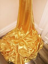 """1 MTR YELLOW GOLD SATIN LINING FABRIC...58"""" WIDE"""