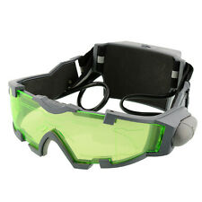 Adjustable Elastic Band Night Vision Goggles Eye shield Green Lens Glasses