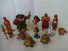 DISNEYS MOANA CAKE TOPPERS 12 PLASTIC FIGURES BRAND NEW FREE P+P