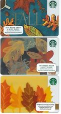 Starbucks Gift Card - Autumn Leaves  - Collector Perfect Condition - 2013 & 2015