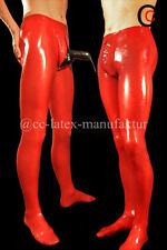 Made 2 Measure FREE Latex Pants with Condom Sack Zipper Flier Penis Sheath socks