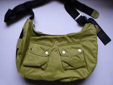 BELSTAFF Bolso de mano grande cuerpo transversal Mensajero Kole (genuine!) Green Perfecto!