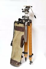 Wooden tripod for ultra large format camera's 8x10 11x14 16x20 with camera head