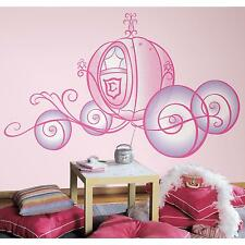 Disney PRINCESS CARRIAGE MURAL wall sticker 7 GIANT decals PINK PURPLE  GLITTERY