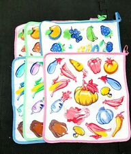 Cute fruit and vegetables hanging Hand Towel kitchen toilet set of 6
