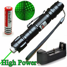 Military 10 Miles 532nm Green Laser Pointer Pen Visible Beam +Battery + Star Cap