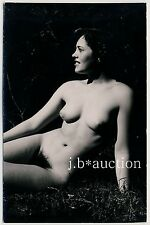#51 rössler Akt foto 14 x 9 nude woman study * vintage 50s Outdoors real photo pc