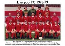 LIVERPOOL FC 1978-1979 BOB PAISLEY KENNY DALGLISH JOE FAGAN RAY KENNEDY A4 PRINT