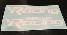 Mercury Racing 2014 NEW WHITE Sticker Race Boat Outboard DECAL YOU GET 2