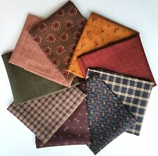 KANSAS TROUBLES by Moda - 9 Fat Quarter Bundle - 100% Cotton Quilting Fabric