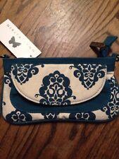 Nikita Lynn Wallet Purse Clutch. Blue Canvas Material. NWT