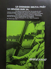 3/1985 PUB BOEING CHINOOK DELTA DOPPLER APN 128 NIGHT VISION GOGGLES FRENCH AD