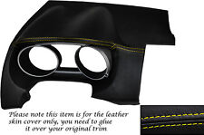 YELLOW STITCH DASH SPEEDO SURROUND LEATHER SKIN COVER FITS PEUGEOT 4007